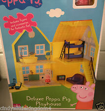 Peppa Pig deluxe playhouse with figures and accessories Age 18m+ damaged box