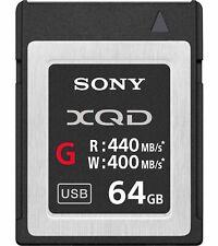 Genuine Sony G Series 64GB XQD Memory Card 440MB/s (UK Stock) BNIP