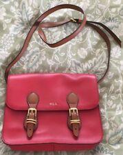 Lauren Ralph Lauren Red Bexley Heath Cross-Body Bag Purse-Near Mint