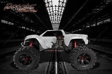 """TRAXXAS X-MAXX GRAPHICS WRAP DECALS """"THE OUTLAW"""" WHITE EDITION FOR OEM BODY PART"""