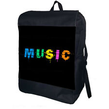 Music Backpack School Bag Travel Personalised Backpack