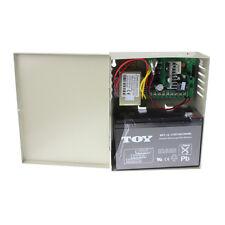 Control Power Supply w/ 12V 7A Backup Battery for Electric Lock Deadbolt Strike