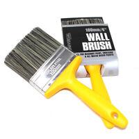 "TWIN PACK (2 x) WALL PAINT BRUSHES 100mm 4"" - MASONRY BRUSH EMULSION PAINTBRUSH"