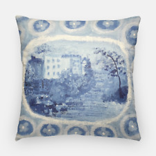 "Blue and White Pillow  Chinoiserie Pillow  Blue Willow Pillow Throw 20"" ,18"""