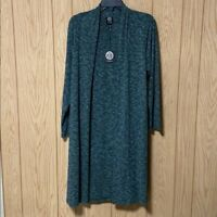 Bobeau Ribbed Knit Cardigan Duster, New With Tags, US Size 1X