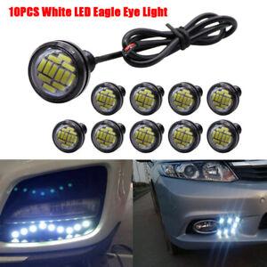 10pcs White LED Eagle Eye Light 12V 15W Daytime Running DRL Backup Car Rock Lamp