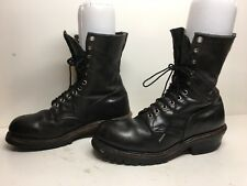 VTG MENS RED WING STEEL TOE WORK BLACK BOOTS SIZE 10 B