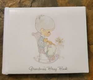 "Precious Moments Grandma's Brag Book Photo Album 1990 6"" W X 4.5"" T"