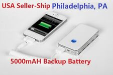 Real 5000mah Poly-Lithium External Battery Portable Charger for iPhone/Samsung