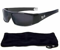 Locs Authentic Sunglasses Super Dark Lenses Motorcycle OG Style Black NEW