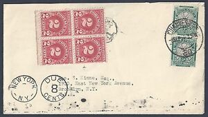 SOUTH AFRICA TO US 1934 JOHANNESBURG TO NY W/SOUTH AFRICA DUE 8 CENTS & IN NEW Y