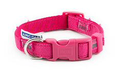 Ancol Indulgence Pink & Blue Patchwork Adjustable Nylon Dog Puppy Collar