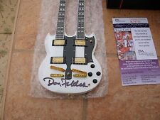 EAGLES DON FELDER SIGNED MINIATURE GUITAR RIGHT FROM HIS WEBSITE JSA COA