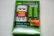 GP ReCyko Charge & Save 4 AA Rechargeable Batteries w/Charger - NEW