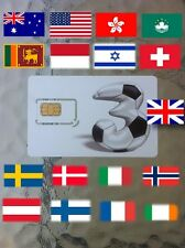 sim card INTERNET USA, Australia, Italy, Denmark, Sweden, Sri Lanka, Indonesia