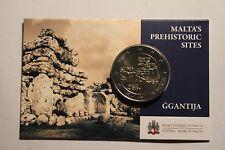 MALTE COIN CARD 2 EURO 2016 GROTTE DE GGANTIJA - *