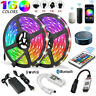 5M 10M 20M 5050 3528 RGB LED Strip Light Bluetooth WiFi Remote 12V Power Supply