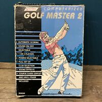 Vintage Handheld Electronic Golf Master 2 Computer Game;SYSTEMA Boxed #1246