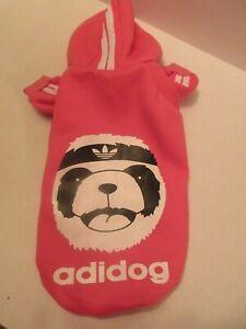 Adidog Pet Dog Hoodie Cotton Sweatshirt Jacket Hood Pink XL Karate Panda Bear