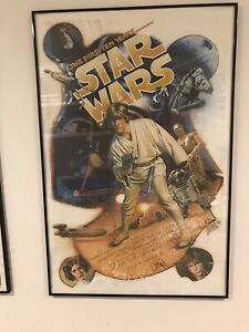 STAR WARS 10TH ANNIVERSARY DREW STRUZAN 1987 SIGNED + NUMBERED ART PRINT POSTER