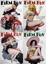 66 Old Issue Of Film Fun - Saucy Racy Naughty Scandal Movie Star Magazine On Dvd