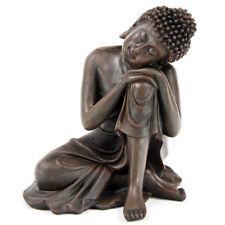 Wood Effect Thai Buddha Figurine Ornament Figurine Oriental Decor Buddah Budha