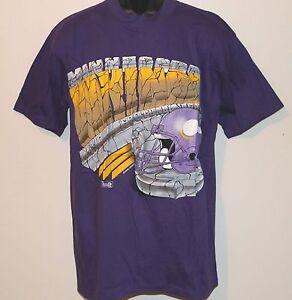 Vintage 90's NFL Minnesota VIKINGS Magic Johnson T's T-Shirt NWT NEW Old Stock
