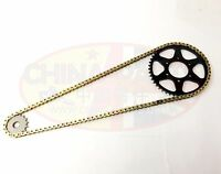 Chain and Sprockets GOLD for Gear Up 16T for Pulse Adrenaline 125 (Rear Drum)