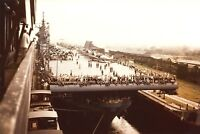 1943 Photo-USS Yorktown CV-10-Transiting Panama Canal Bound for Pacific Combat