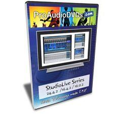 Presonus StudioLive Series Tutorial (24.4.2, 16.4.2 & 16.0.2) 2 Hour DVD