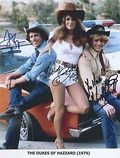 The Dukes of Hazzard (1979) Catherine Bach RARE PROMO CAST (3) SIGNED RP 8X10!!!