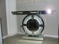 Schminktisch Silber Spiegel Konsole Kommode Spiegelkonsole Möbel Bling Licht