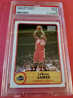 2003-04 BAZOOKA LEBRON JAMES RC ROOKIE CARD #223 RED JERSEY! *POP 47* HOT! 🔥