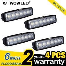 Wow - 4 X 6 in (approx. 15.24 cm) 18 W LED Barra de luz de trabajo lámpara de inundación offroad conducción UTE ATV 4WD