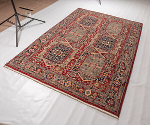 High Quality Antique Geometric Red Rust 100% Wool Traditional Oriental Area Rugs