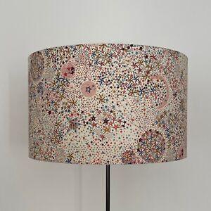 Beautifully Handmade Drum Lampshade In Liberty 'Adelajda' Fabric