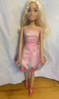 Mattel Barbie Doll Blonde Just Play My Size 28 Inches EUC