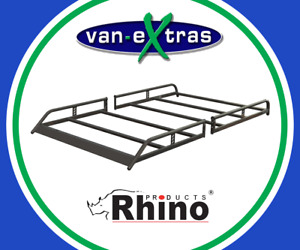 Rhino Modular Roof Rack for a Renault Trafic 2015 on L1H1 Twin Door - R629