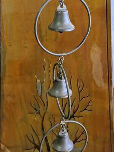 metal rain chain outdoor garden sculpture mobile chime with  5 bells 76 cm new