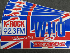 92.3 K-Rock bumper stickers (The Who 1989 tour) Howard Stern