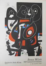 10x Affiche - Joan Miro - Galerie Jofa Kim, Paris