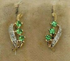 Studs Emerald & Diamond 585er Gold