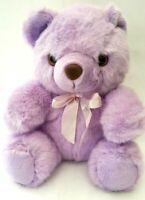 Huggable Toys Purple Teddy Bear Sitting Plush Soft Stuffed Doll Toy