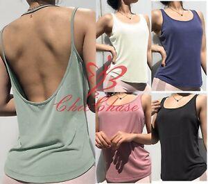 Women's Vest Tank Top Activewear Sports Wear Gym Yoga Training Running Fitness
