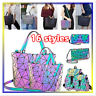 Geometric Purse Luminous Crossbody Bags Irredescent Wallet Holographic For Women