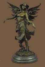Fantasy Mystical Fairy Nymph Winged Female Signed Original Vitaleh Bronze Statue