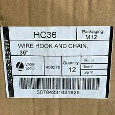 Pack of 12 Lithonia Lighting HC36 Wire Hook and Chain 36''