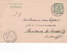 Germany 1907 Zweibrucken-Lindau 5pg Prepaid Postcard VGC