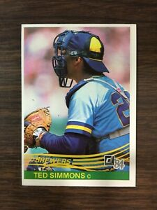 1984 Donruss Set Break #473 TED SIMMONS    NM-MT or BETTER J10020321