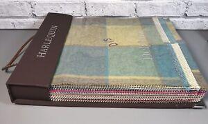 Harlequin Delphine Remi Check & Stripe Wool Blend Fabric Complete Sample Book